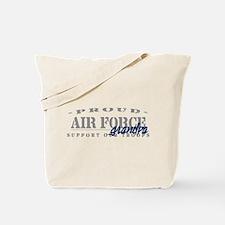 Proud Air Force Grandpa (Blue) Tote Bag