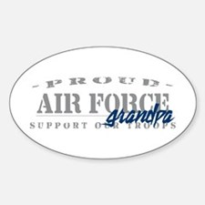 Proud Air Force Grandpa (Blue) Oval Decal
