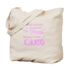 Cute Camo princess Tote Bag