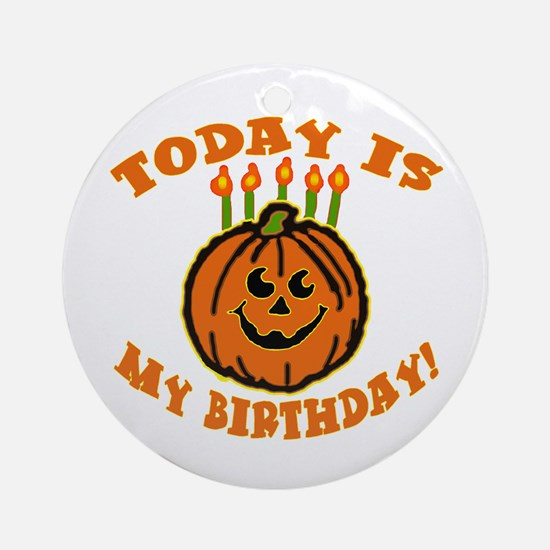 My Halloween Birthday Ornament (Round)