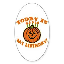 My Halloween Birthday Oval Decal
