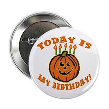 My Halloween Birthday Button