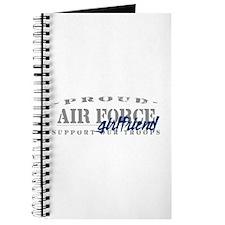 Proud Air Force Girlfriend (Blue) Journal