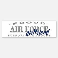 Proud Air Force Girlfriend (Blue) Bumper Bumper Bumper Sticker