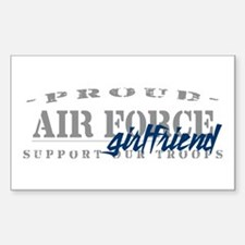 Proud Air Force Girlfriend (Blue) Decal