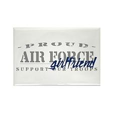 Proud Air Force Girlfriend (Blue) Rectangle Magnet