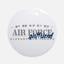 Proud Air Force Girlfriend (Blue) Ornament (Round)