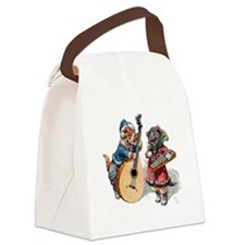 Kittens Play Music In the Snow Canvas Lunch Bag
