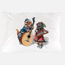 Kittens Play Music In the Snow Pillow Case