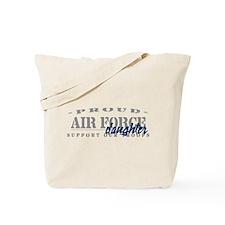 Proud Air Force Daughter (Blue) Tote Bag