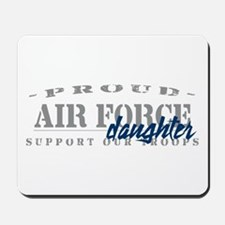Proud Air Force Daughter (Blue) Mousepad