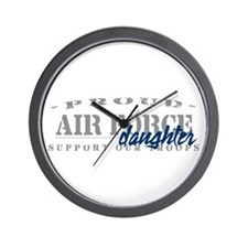 Proud Air Force Daughter (Blue) Wall Clock