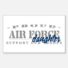 Proud Air Force Daughter (Blue) Sticker (Rectangul