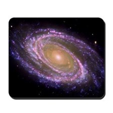 Violet Spiral Galaxy Mousepad