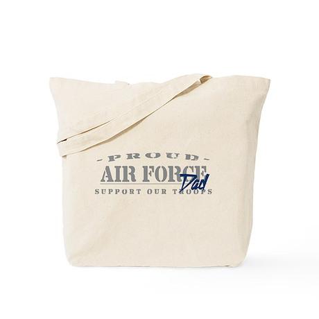 Proud Air Force Dad (Blue) Tote Bag