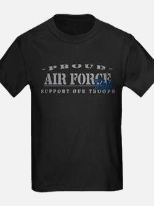 Proud Air Force Dad (Blue) T