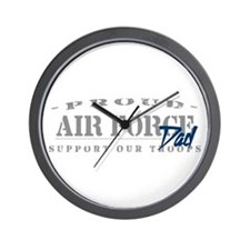 Proud Air Force Dad (Blue) Wall Clock