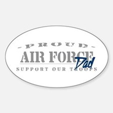 Proud Air Force Dad (Blue) Oval Decal