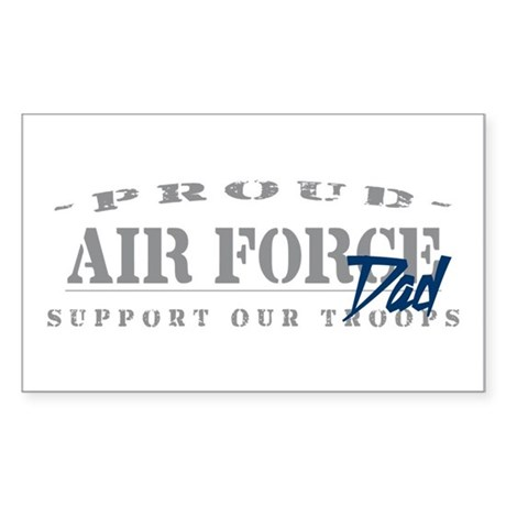 Proud Air Force Dad (Blue) Rectangle Sticker