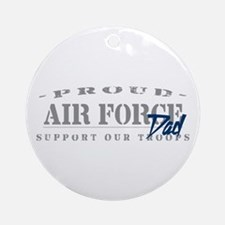 Proud Air Force Dad (Blue) Ornament (Round)