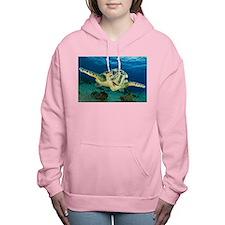 Sea Turtle Soar Women's Hooded Sweatshirt