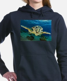 Sea Turtle Soar Women's Hooded Sweatshirt