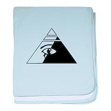 Eye of the pyramid baby blanket