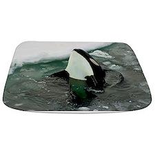 Spy Hopping Orca Whale Bathmat