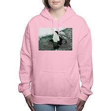 Spy Hopping Orca Whale Women's Hooded Sweatshirt