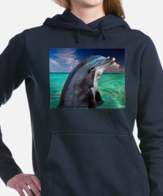Dolphin Profile Women's Hooded Sweatshirt