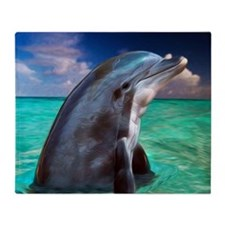 Dolphin Profile Throw Blanket