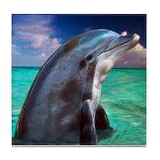 Dolphin Profile Tile Coaster