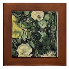 Vincent Van Gogh Roses Framed Tile