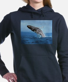 Humpback Whale Leap Women's Hooded Sweatshirt