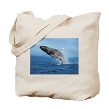 Humpback Whale Leap Tote Bag