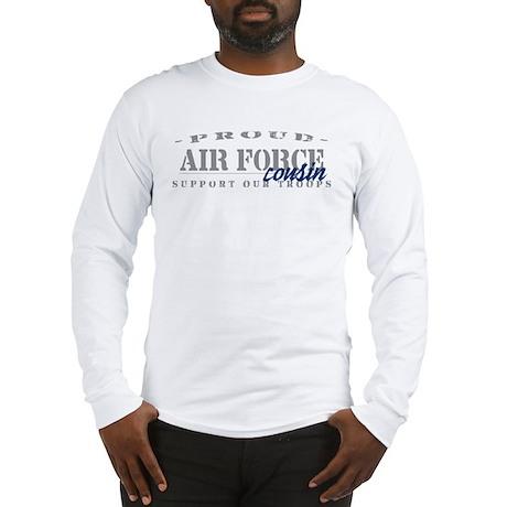 Proud Air Force Cousin (Blue) Long Sleeve T-Shirt