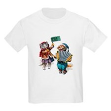 Kittens Play Music In the Snow T-Shirt