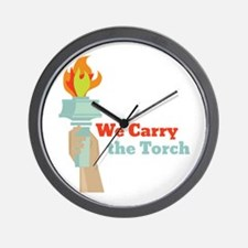 Carry The Torch Wall Clock