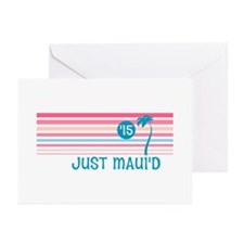 Stripe Just Mauid 15 Greeting Cards (Pk of 10)