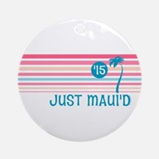 Stripe Just Mauid 15 Ornament (Round)