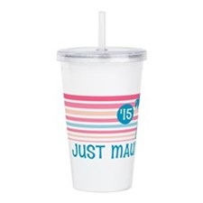 Stripe Just Mauid 15 Acrylic Double-wall Tumbler