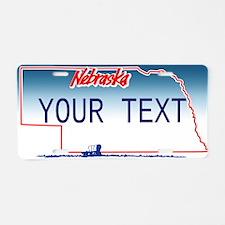 Nebraska Custom Aluminum License Plate