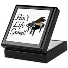 Ain't Life Grand Piano Keepsake Box