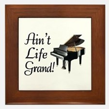 Ain't Life Grand Piano Framed Tile