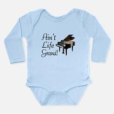 Ain't Life Grand Piano Long Sleeve Infant Bodysuit