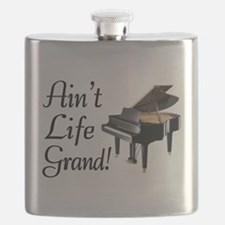 Ain't Life Grand Piano Flask