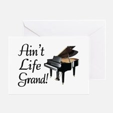 Ain't Life Grand Piano Greeting Card