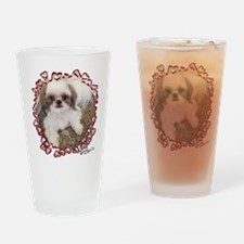 BonnyShihTzu_Hearts Drinking Glass