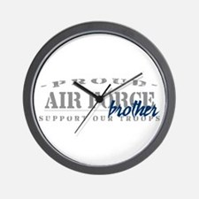 Proud Air Force Brother (Blue) Wall Clock
