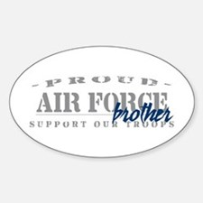 Proud Air Force Brother (Blue) Oval Decal